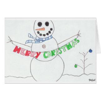 O Natal de um boneco de neve Cartão Comemorativo