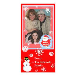 O Natal deseja o cartão com fotos da família