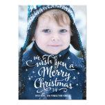 O Natal deseja o cartão com fotos do feriado de | Convite Personalizado