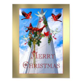 O Natal do marinheiro Convite 10.79 X 13.97cm