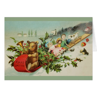 O Natal do Victorian brinca o cartão