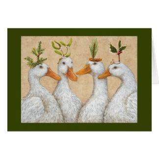 O Natal ducks o cartão