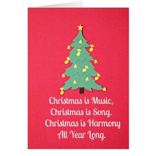 O Natal é música…. Cartao
