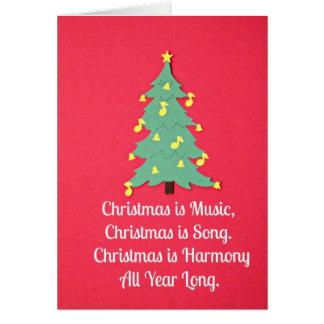 O Natal é música…. Cartão Comemorativo