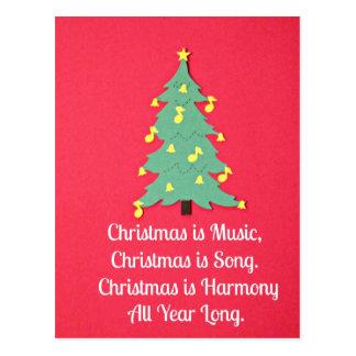 O Natal é música…. Cartão Postal