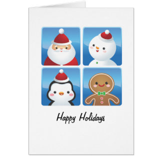 O Natal esquadra cartões