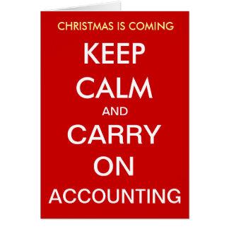 O Natal está vindo - mantenha a calma… Cartão de N