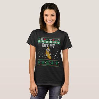 O Natal feio come-me camisetas engraçadas da