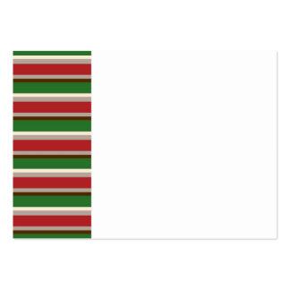 O Natal horizontal listra o cartão de visita