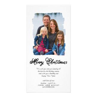 O Natal moderno pintou o cartão com fotos do Cartão Com Foto