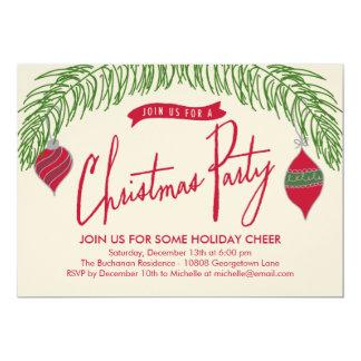 O Natal ramifica convite da festa de Natal