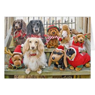 O Natal traz a família inteira junto Cartão Comemorativo