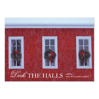 O Natal três envolve-se em janelas da escola Convite 12.7 X 17.78cm