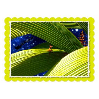 O Natal tropical de um lagarto do geco Convite 12.7 X 17.78cm