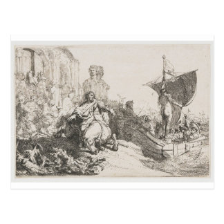 O navio da fortuna por Rembrandt Cartão Postal