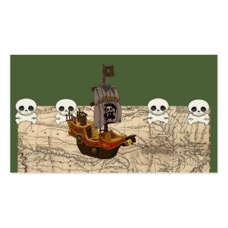 O navio de pirata dos desenhos animados cartão de visita
