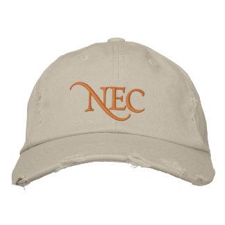 O NEC afligiu o chapéu bordado tipo de tela de alg Boné Bordado