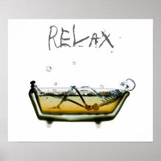 O negativo de Orig do cartaz relaxa o tempo de esq Impressão