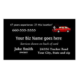 O negócio Card2- do mecânico personaliza Cartão De Visita