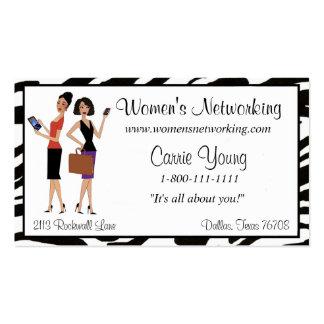 O negócio e os trabalhos em rede das mulheres cartão de visita