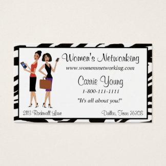 O negócio e os trabalhos em rede das mulheres cartão de visitas