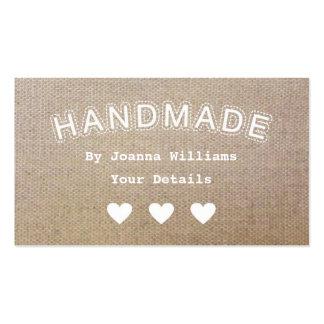 O negócio Handmade do artesanato do Hessian de Cartão De Visita