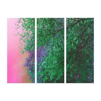 O néon vibrante do surrealismo colore partes