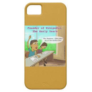 O nerd caçoa a caixa engraçada dos desenhos capa para iPhone 5