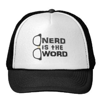 O nerd é a palavra boné