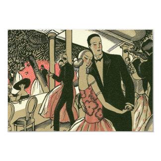 O Newlywed do art deco do vintage dança Convite 8.89 X 12.7cm