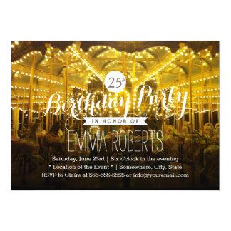 O nighttime alegre alegre vai festa de aniversário convite 12.7 x 17.78cm
