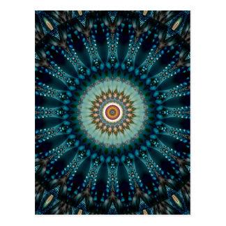 O no. azul 3 da luz da mandala criou por Tutti Cartão Postal