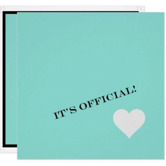 O noivado azul Tiffany da cerceta inspirou o Convite Quadrado 13.35 X 13.35cm