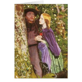 O noivado longo por Arthur Hughes Cartão Comemorativo