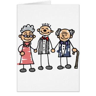 O noivo Parents a cerimónia do dia do casamento da Cartão Comemorativo