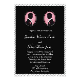 O noivo pintado mostra em silhueta o convite