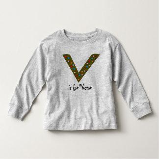 O nome bonito do menino personalizado inicial da camiseta infantil