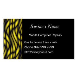 O nome da empresa, computador móvel repara… cartão de visita