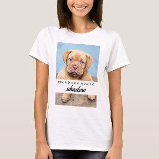 O nome do seu cão e mamã orgulhosa do cão da foto camiseta