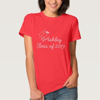 O nome feito sob encomenda do ano graduado da tshirts