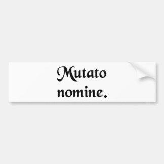 O nome que está sendo mudado adesivos