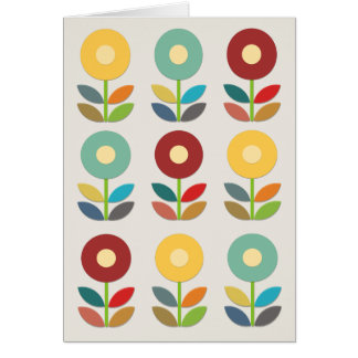 O Nordic floresce o estilo de Papercut Cartão