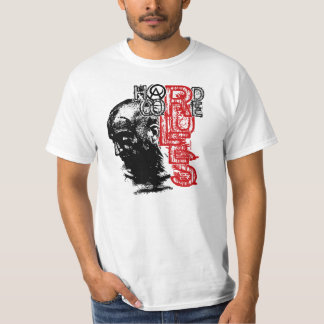 O núcleo duro de Amoura ordena o t-shirt branco