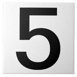 """O número da casa da extra grande telha 6"""" x6 """""""