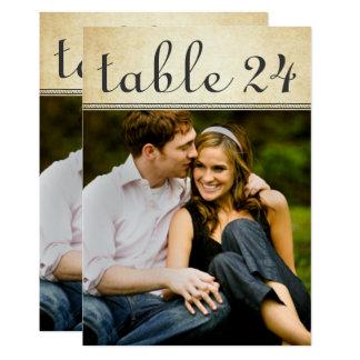 O número da mesa da foto do casamento carda o convite 12.7 x 17.78cm