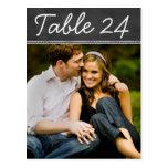 O número da mesa da foto do casamento carda o quad