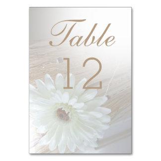 O número Wedding da mesa carda a margarida rústica