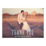 O obrigado Wedding o mais bonito dos obrigados | Convite 12.7 X 17.78cm