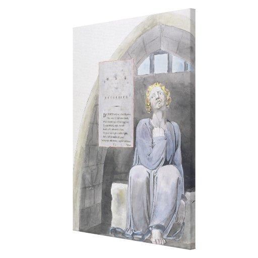O ode à adversidade, projeta 37 'dos poemas de Tho Impressão Em Tela Canvas