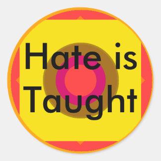 !   O ódio de UCreate é ensinado Adesivo Redondo